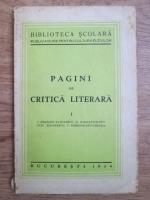 Ion Heliade Radulescu, Mihail Kogalniceanu, Titu Maiorescu, C. Dobrogeanu Gherea - Pagini de critica literara (1934)