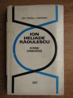 Ion Heliade Radulescu - Scrieri lingvistice