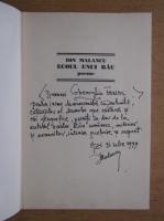 Anticariat: Ion Malancu - Ecoul unui rau (cu autograful autorului)