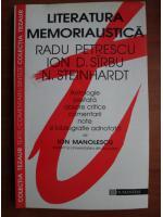 Anticariat: Ion Manolescu - Literatura memorialistica (Radu Petrescu, Ion Sirbu, N. Steinhardt)