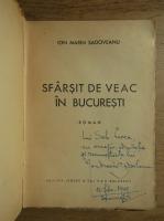 Ion Marin Sadoveanu - Sfarsit de veac in Bucuresti (cu autograful autorului, 1944)