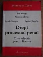 Anticariat: Ion Neagu - Drept procesual penal. Curs selectiv pentru licenta