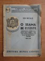 Ion Neculce - O seama de cuvinte (1943)