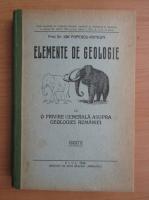 Ion Popescu - Elemente de geologie