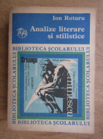 Ion Rotaru - Analize literare si stilistice