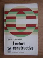 Anticariat: Ion Vlad - Lecturi constructive