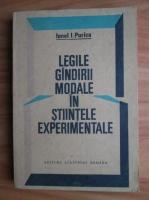 Ionel I. Purica - Legile gandirii modale in stiintele experimentale
