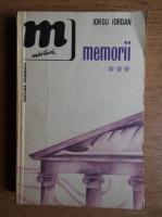 Anticariat: Iorgu Iordan - Memorii (volumul 3)