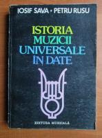 Anticariat: Iosif Sava - Istoria muzicii universale in date