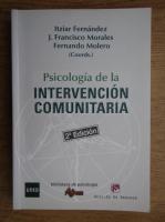 Anticariat: Itziar Fernandez - Psicologia de la intervencion comunitaria
