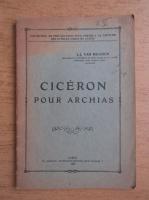 Anticariat: J. J. van Dooren - Ciceron pour archais (1929)
