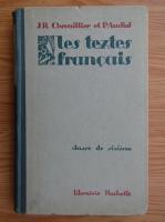 Anticariat: J. R. Chevaillier - Les textes francais. Classe de sixieme (1926)