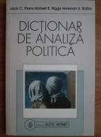Anticariat: Jack C. Plano - Dictionar de analiza politica