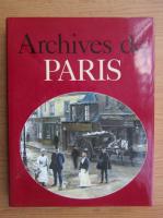 Anticariat: Jacques Borge - Archives de Paris