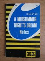 James L. Roberts - Shakespears. A midsummer night's dream. Notes
