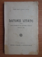 Jean Bart - Datorii uitate (1930)