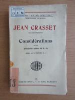Anticariat: Jean Crasset - Considerations (1932)