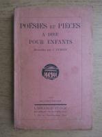 Anticariat: Jean Dubois - Poesies et Pieces a dire pour enfants (1929)