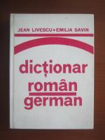 Jean Livescu, Emilia Savin - Dictionar Roman-German