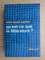 Jean-Paul Sartre - Qu'est-ce que la litterature?