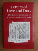 Anticariat: John Moodie - Letters of Love and Duty