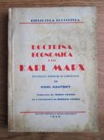 Karl Kautsky - Doctrina economica a lui Karl Marx (1945)