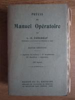 Anticariat: L. H. Farabeuf - Precis de manuel operatoire (1939)