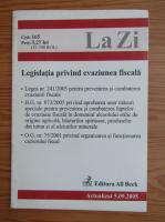 Anticariat: La Zi. Legislatia privind evaziunea fiscala