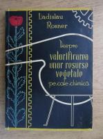 Ladislav Rosner - Despre valorificarea unor resurse vegetale pe cale chimica