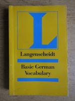 Langenscheidt. Basic german vocabulary