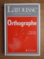 Larousse orthographe