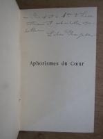 Anticariat: Lelia Georgescu - Aphorismes du Coeur (cu autograful autoarei, 1904)