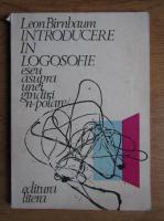 Anticariat: Leon Birnbaum - Introducere in logosofie