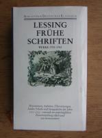 Lessing fruhe schriften, werke 1751-1753
