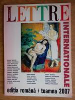 Anticariat: Lettre Internationale, numarul 63, toamna 2007