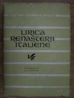 Lirica renasterii italiene