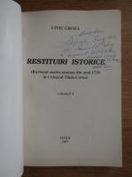 Anticariat: Liviu Groza - Restituiri istorice (cu autograful autorului, volumul 4)
