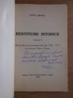 Anticariat: Liviu Groza - Restituiri istorice (cu autograful autorului, volumul 5)