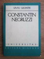 Anticariat: Liviu Leonte - Constantin Negruzzi