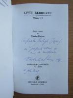 Liviu Rebreanu - Opere (cu dedicatia si autograful lui Nicolae Gheran pentru Balogh Jozsef, volumul 19)