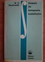 Anticariat: M. L. Smoleanski - Tabele de integrale nedefinite