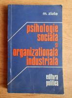 M. Zlate - Psihologie sociala si organizationala industriala