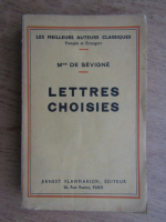 Anticariat: Madame de Sevigne - Lettres choisies (1933)