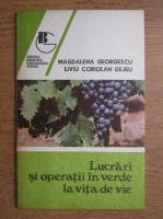 Magdalena Georgescu - Lucrari si operatii in verde la vita de vie