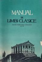 Manual de limbi clasice pentru seminariile teologice, anul III