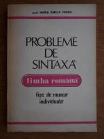 Anticariat: Maria Emilia Goian - Probleme de sintaxa limba romana