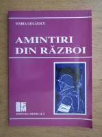 Maria Golaescu - Amintiri din razboi
