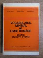 Anticariat: Maria Iliescu - Vocabularul minimal al limbii romane pentru studentii straini