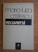 Anticariat: Maria Luiza Cristescu - Necuviinta