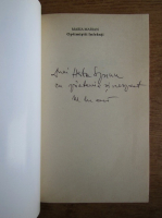 Anticariat: Maria Marian - Optimistii infranti (cu autograful autorului)